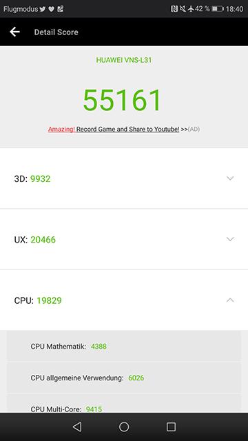AnTuTu Score Huawei P9 Lite