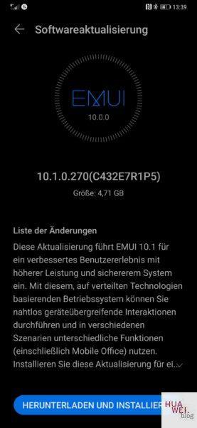 HUAWEI Mate 20 u. 20 Pro - EMUI 10.1 startet jetzt 1