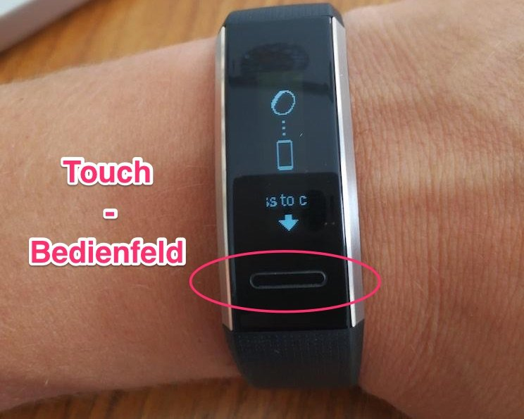 Huawei Band 2 Pro - Touch - Bedienfeld