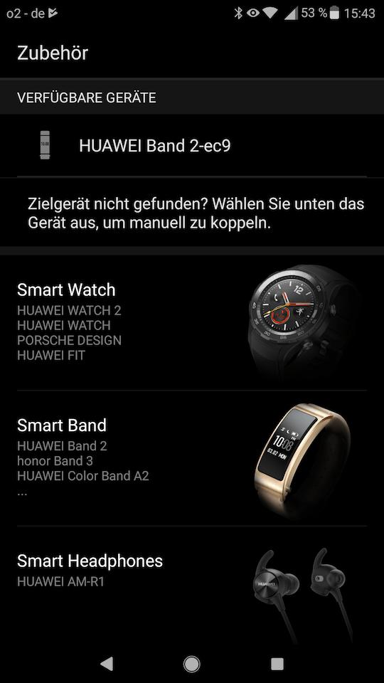 Huawei Wear - Band 2 Pro - Koppeln