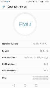 Huawei Mate 9 Oreo Beta Telefoninfo