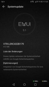 Huawei P10 B179 Update Changelog