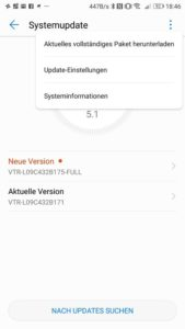 Huawei P10 Sicherheitspatch B175 Firmware Update FULL