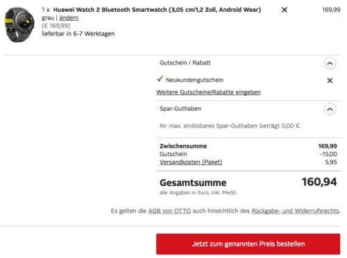 Huawei Watch 2 Schnäppchen
