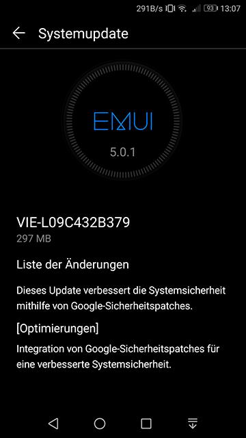 VIE-L09C432B379 Huawei P9 Plus Update