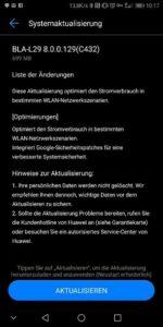 Huawei Mate 10 Pro Firmware 129 Changelog