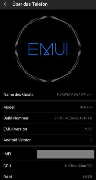 HUAWEI Mate 10 Pro erhält neue Firmware 2