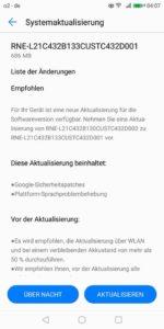 Huawei Mate 10 lite Firmware Update B133 Changelog