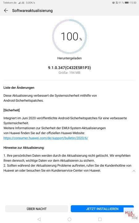 MediaPad M5 Pro – Junipatch 2020 wird verteilt 2