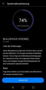 Huawei Mate 10 Pro Update Firmware 8.0.0.137