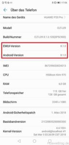 Huawei P20 Android EMUI 8.1