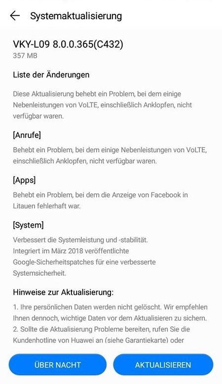 Huawei P10 Plus Update