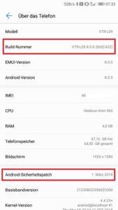 Huawei P10 Update 8.0.0.365