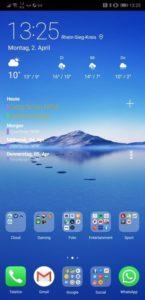 Huawei P20 Notch deaktivieren
