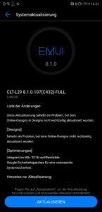 Huawei P20 Pro Firmwareupdate Changelog