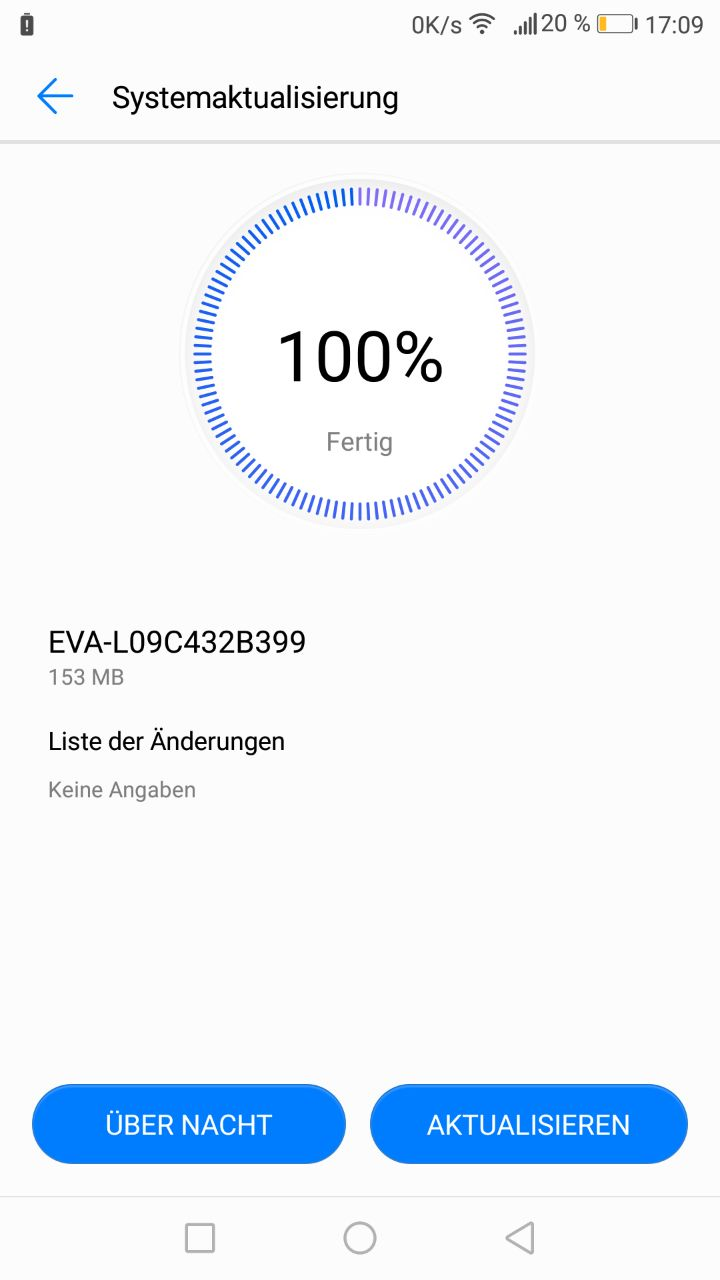 Huawei_P9_Sicherheitspatch_Firmware_Update_Maerz_18_EVA_L09C432B399_Changelog