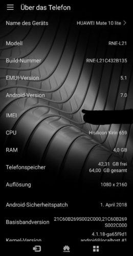 Neues Update für das Huawei Mate 10 lite [OTA] 1