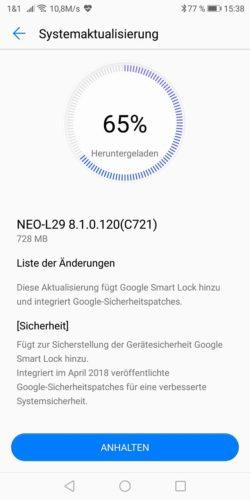 Huawei Mate RS Firmware Update 8.1.0.120