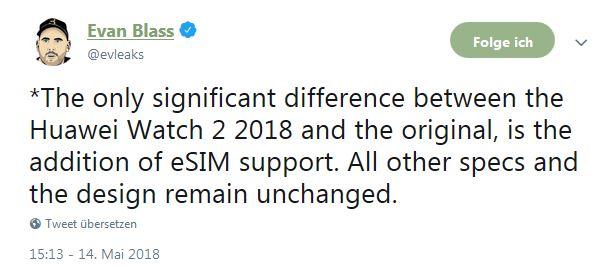 Huawei Watch 2 2018 Evan Blass
