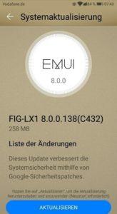 Huawei P smart Firmware Update 138