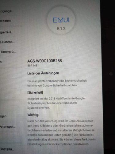 Mediapad T3 10 Update B258