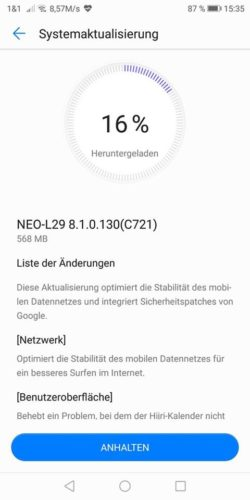 Huawei Mate RS Firmware Update B130