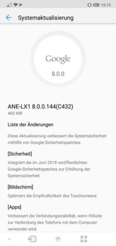 Huawei P20 Lite Firmware Update B144