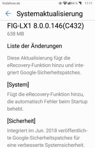Huawei P Smart Firmware Update B146