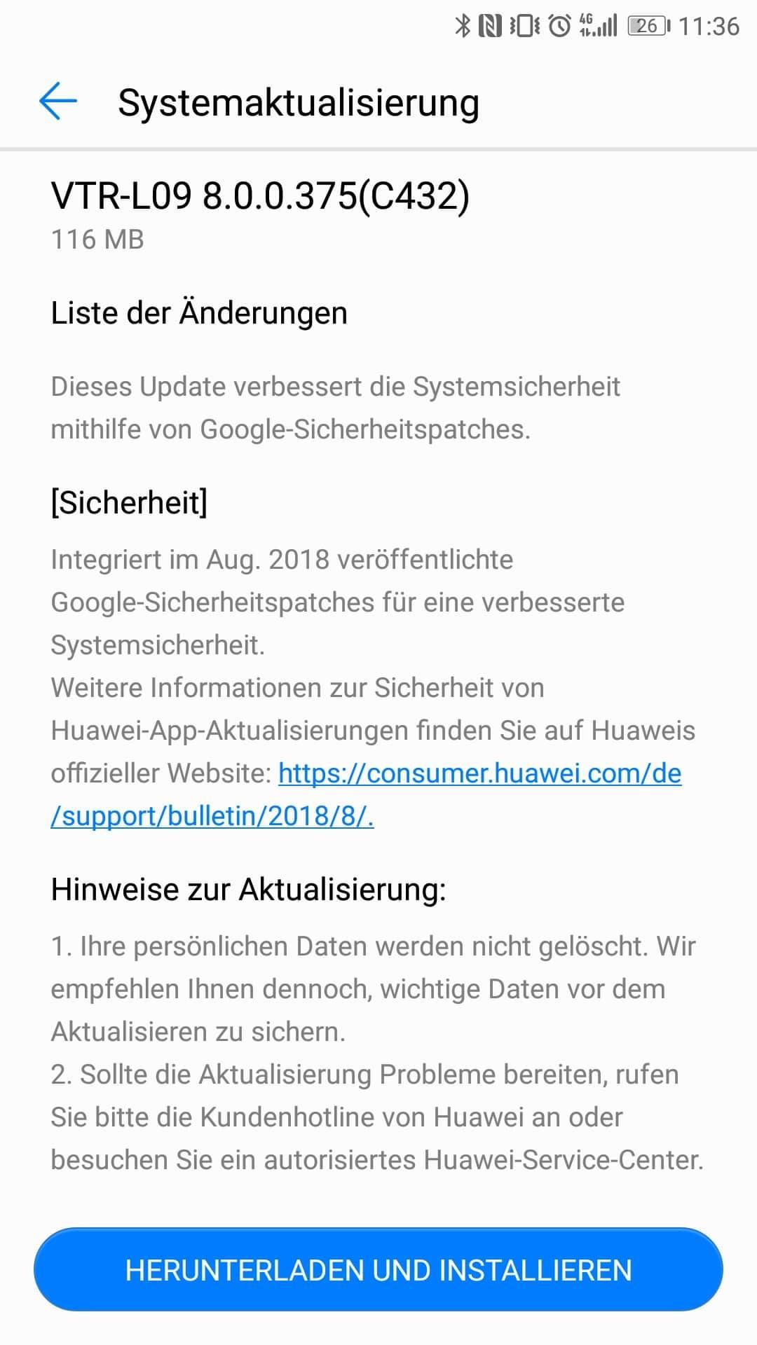 Huawei_P10_Firmware_Update_375_Sicherheitspatch_August_2018_1