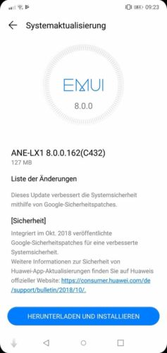 ANE-LX1 B162 Changelog