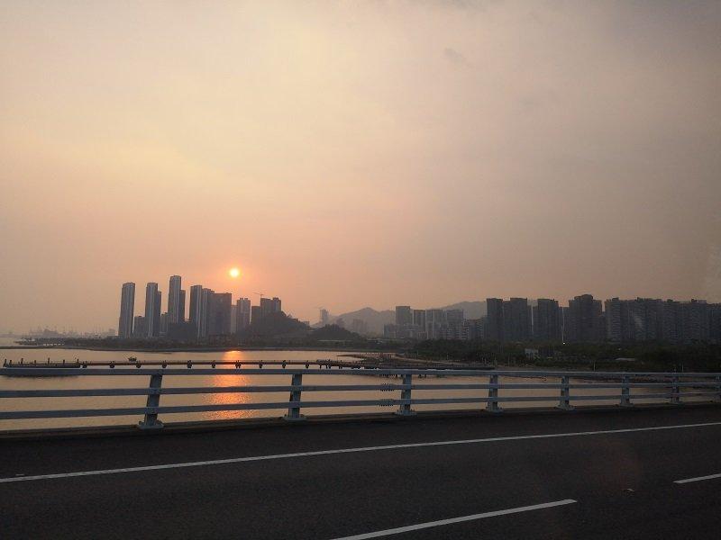 Fahrt Hongkong Shenzhen