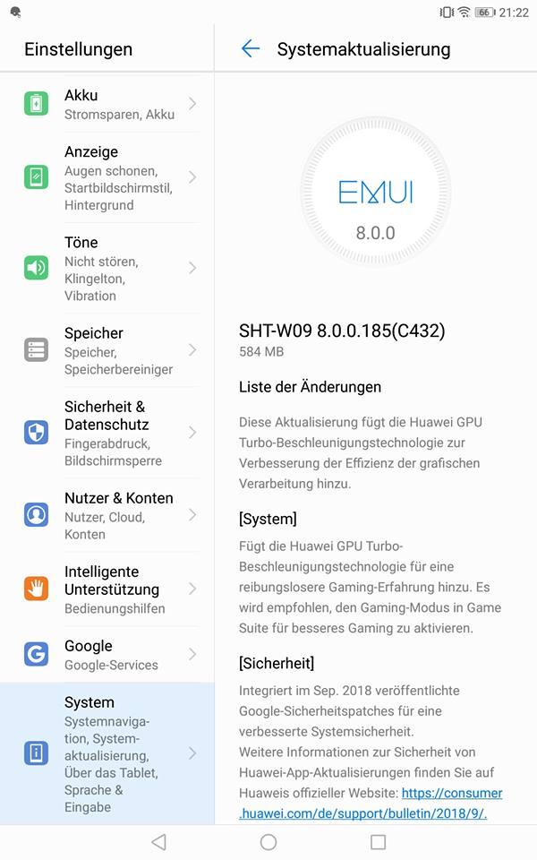 Huawei MediaPads erhalten Updates 1