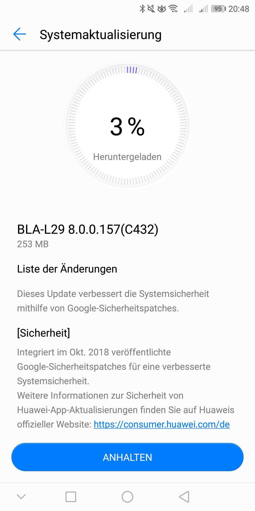 Mate 10 Pro Update 157 Changelog.