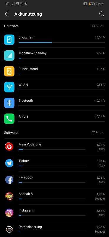 Huawei Mate 20 Pro Test Akkulaufzeit Heavy User Display