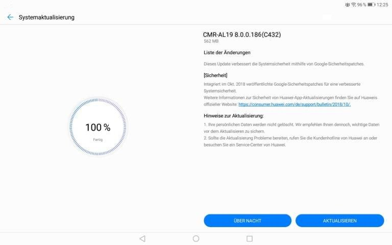 MediaPad M5 - Update 186 - Oktoberpatch fürs Pro 1