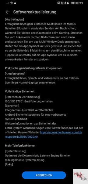 Mate 20 X – EMUI 10.1 Update jetzt auch bei uns verfügbar 2