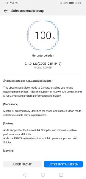Mate 20 X (China) – 9.1.0.123 – weiteres großes Update 2