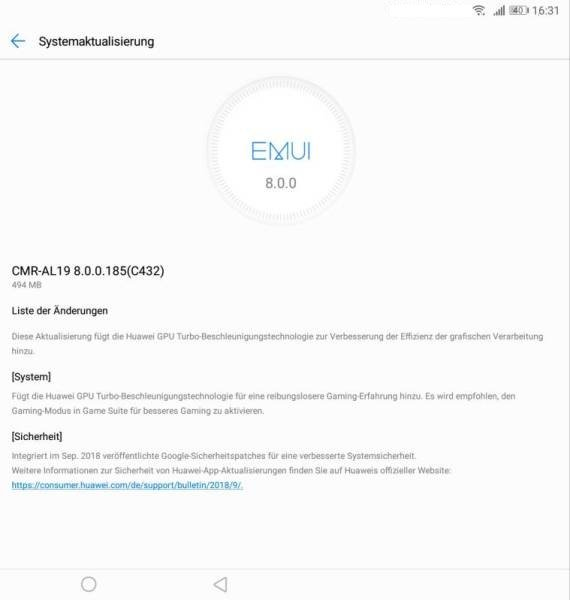 MediaPad M5 - Update 186 - Oktoberpatch fürs Pro 2