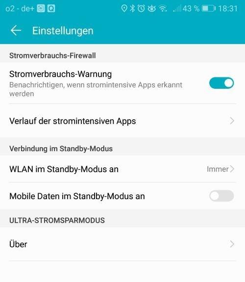 Huawei Benachrichtigungen EMUI 8 Internetverbindung