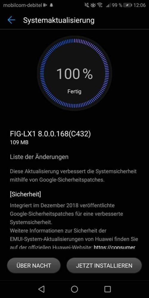 Huawei P Smart Firmwareupdate 168