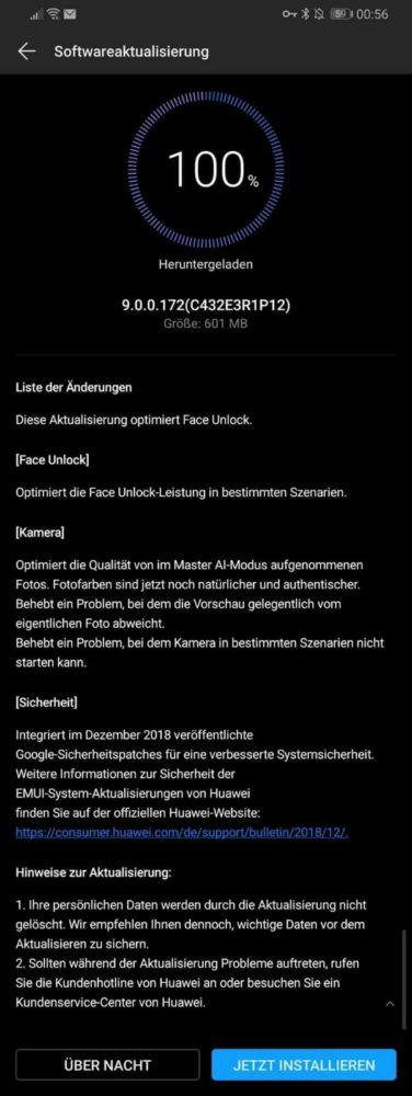 Mate 20 X - Update 172 - Dezember-Patch und Optimierungen 1