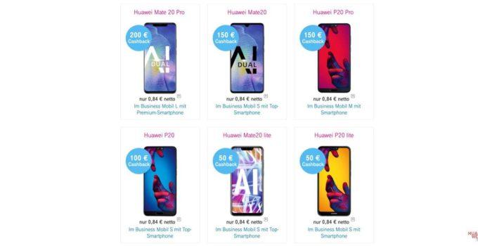 HUAWEI Cashback Aktion der Telekom - bis zu 200 EUR sparen 1