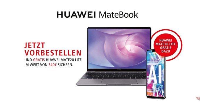 Matebook 13 Vorbesteller Aktion mit gratis Mate 20 Lite