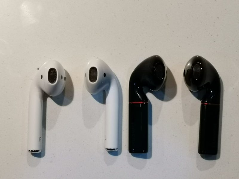 Apple Airpods vs. HUAWEI Freebuds 2 Pro