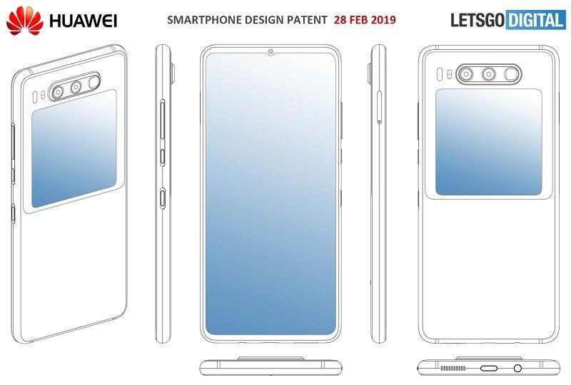 HUAWEI Patent zeigt Smartphone mit zweitem Display 1
