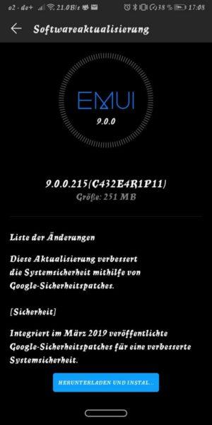 HUAWEI Mate 10 pro, P20 und P20 lite erhalten Firmware Update! 2