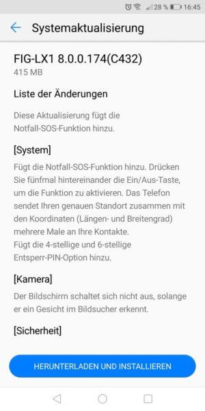 HUAWEI P Smart - neue Features mit dem aktuellen Sicherheitsupdate 1