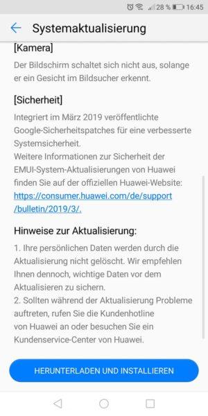 HUAWEI P Smart - neue Features mit dem aktuellen Sicherheitsupdate 2