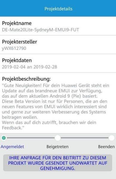 Huawei Mate 20 Lite Android 9 Beta geht los (Update) 2