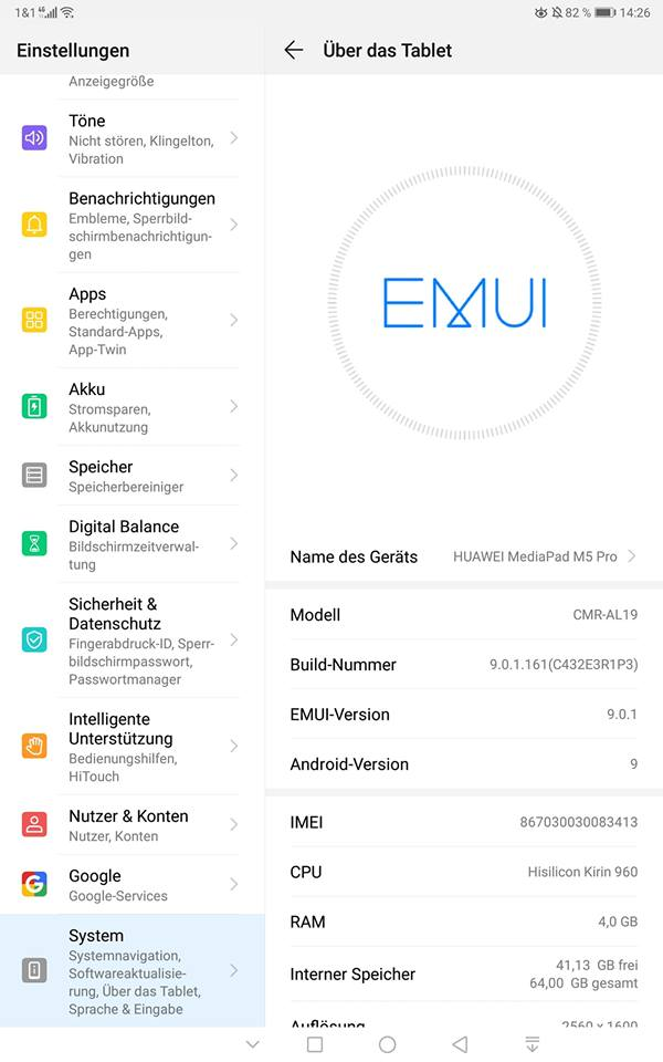 MediaPad M5 Pro - Android 9
